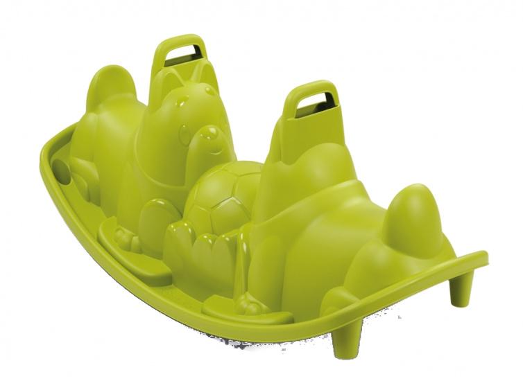 Smoby wip Dogs Rocker junior 115 x 49,5 cm groen