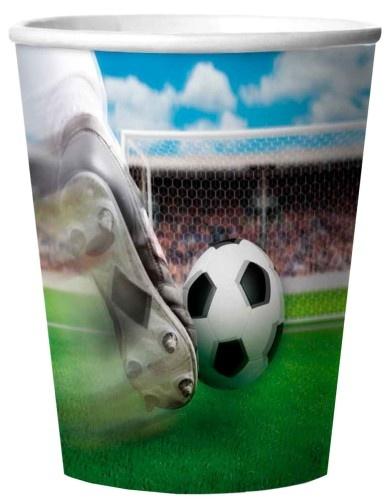 Folat Party Bekertjes 3D Soccer 4 Stuks