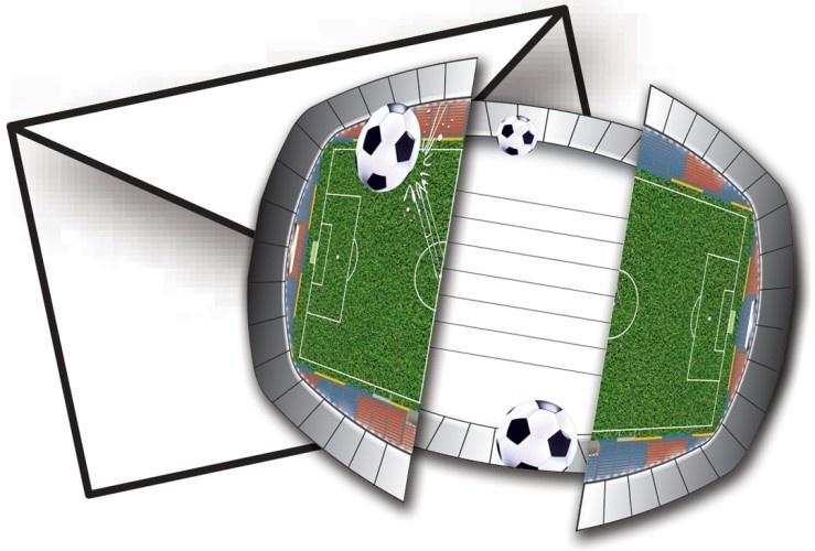 Folat Uitnodigingen Soccer 8 Stuks