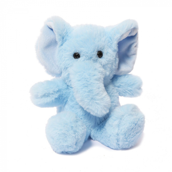 Soft Touch knuffel olifant junior 15 cm polyester blauw