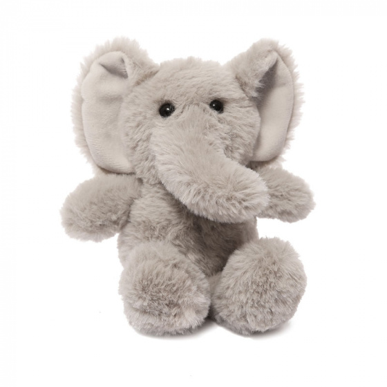 Soft Touch knuffel olifant junior 15 cm polyester grijs