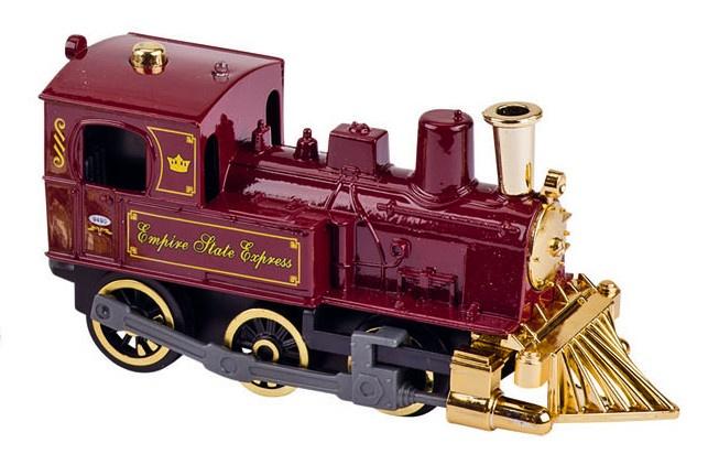 Goki Metalen Klassieke Locomotief Met Geluid: 14 cm Rood