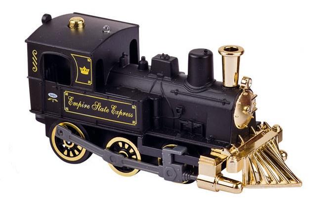 Goki Metalen Klassieke Locomotief Met Geluid: 14 cm Zwart