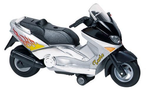 Goki Metalen Motor: Motorfiets 12,5 cm Grijs