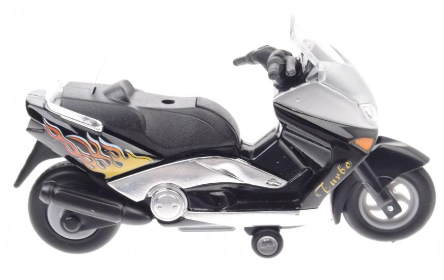 Goki Metalen Motor: Motorfiets 12,5 cm Zwart