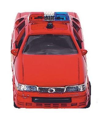 Goki Metalen Politiewagen: 13 cm Rood