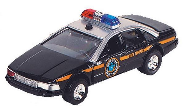Goki Metalen Politiewagen: 13 cm Zwart