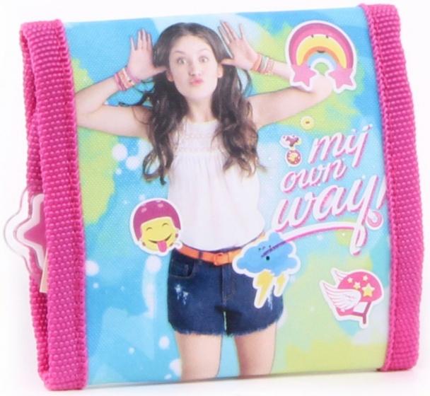 Soy Luna portemonnee meisjes 10 x 10 cm roze