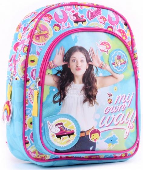 Soy Luna rugzak meisjes 25 x 31 x 10 cm lichtblauw, roze