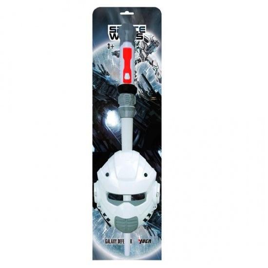 Space Wars speelset zwaard met masker kunststof wit