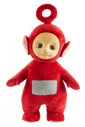Spin Master Teletubbies Jumping knuffel Po 28 cm rood