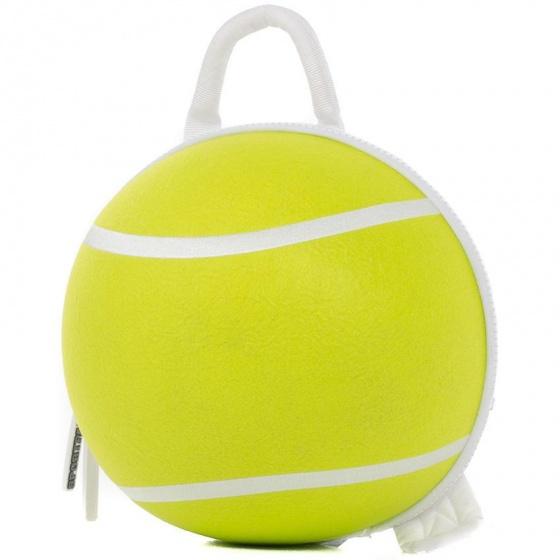 Sportpax rugzak 3D tennisbal geel nylon diameter 32 cm