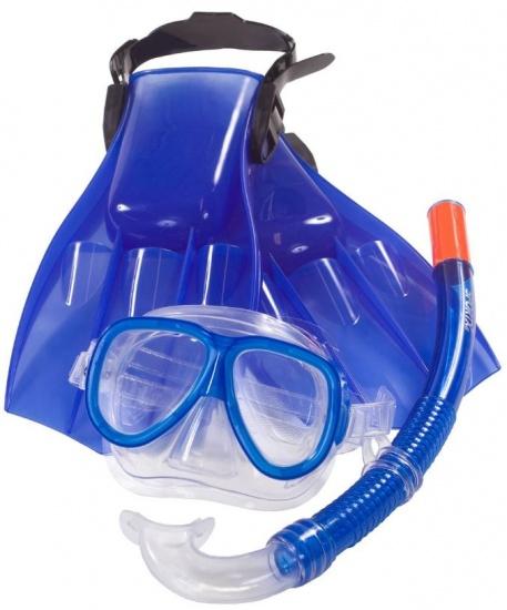 SportX snorkel set junior blauw
