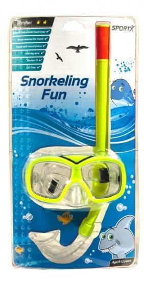 SportX snorkelset Comfort junior geel