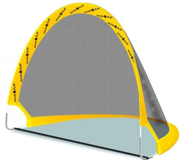 SportX voetbalgoal set pop up geel/zwart 80 x 80 x 60 cm