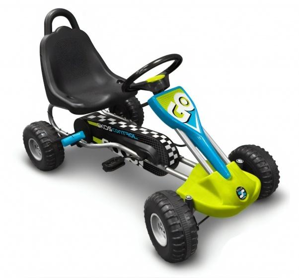 Stamp skelter Go Kart Skids Control 89 cm blauw-groen