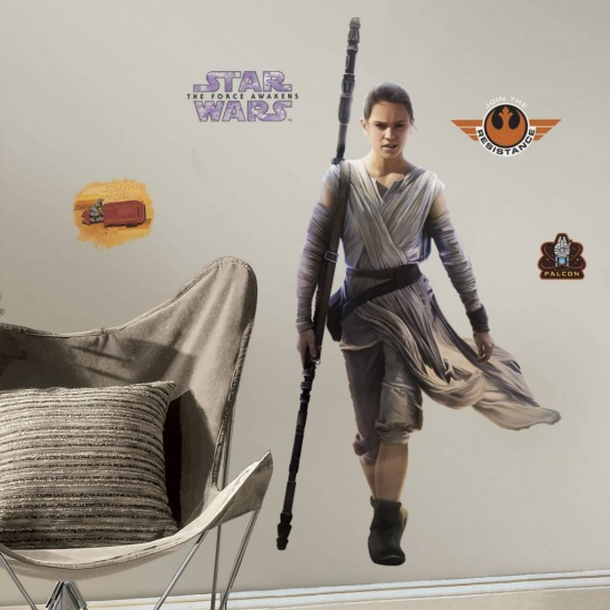 Star Wars Muursticker Vii: REY
