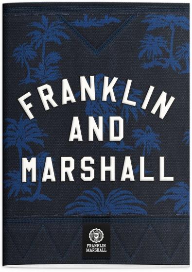 Stationery Team Schrift Franklin M. A4 geruit donkerblauw kopen