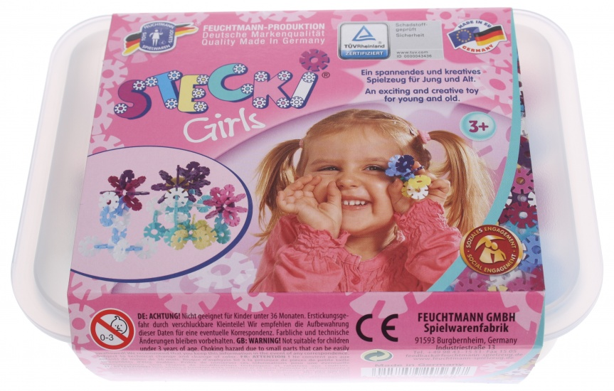 Feuchtmann Stecki opsteekschijven Girls One for Two Box Midi