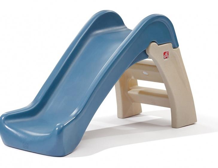 Step2 glijbaan Play and Fold 110 cm bruin/blauw
