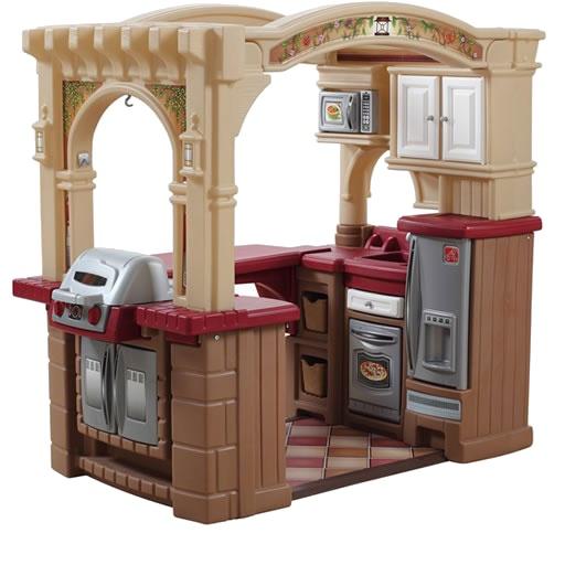 Step2 Speelgoedkeuken open keuken en grill 119 cm bruin