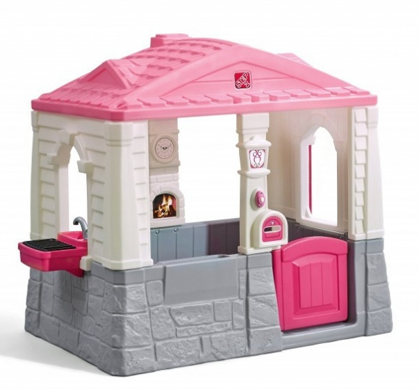 Step2 speelhuisje Neat & Tidy Cottage roze 130x120x89 cm
