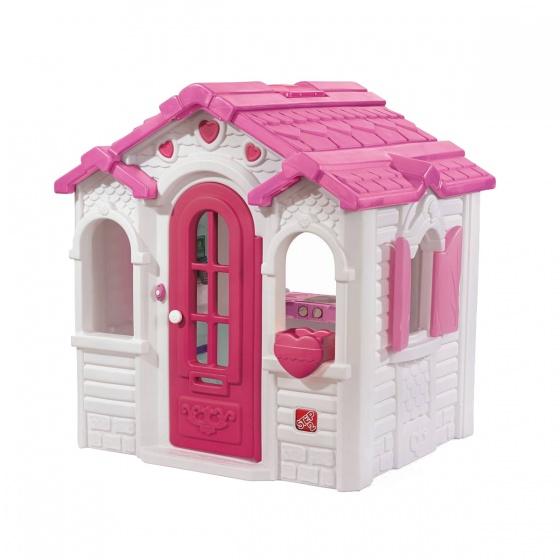 Step2 speelhuisje Sweetheart wit/roze 132 x 137 x 152 cm