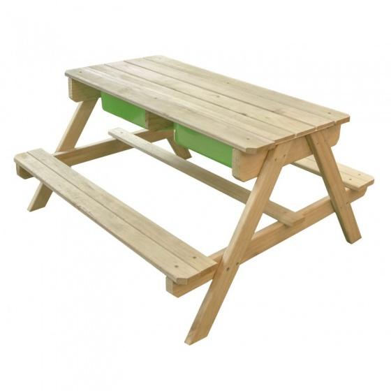 Sunny Dual Top zand , water en picknicktafel blank 90 cm