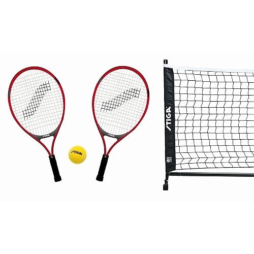 Stiga tennisset 4 delig zwart/rood