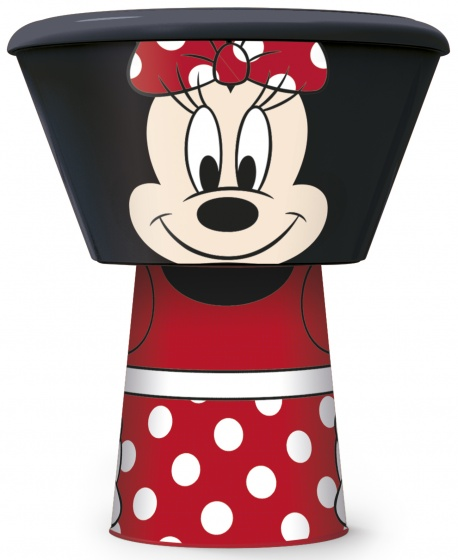 Stor eetset Minnie Mouse 3 delig zwart/rood