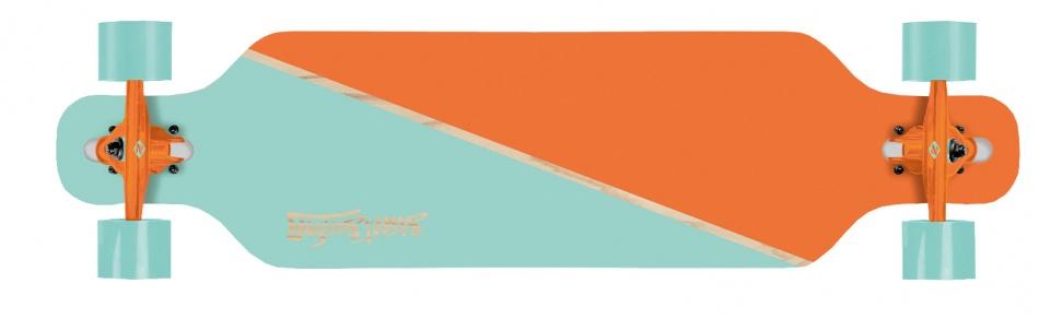 Street Surfing Freeride 39 Nordic Orange Longboard 99 x 25 cm
