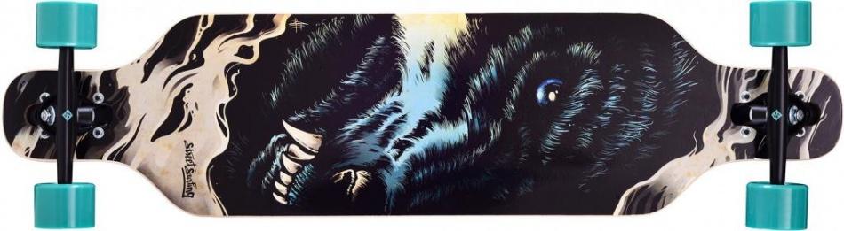 Street Surfing Freeride 39 The Wolf Longboard 99 x 25 cm zwart