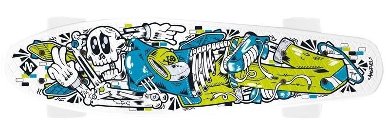 Street Surfing Fuel Board Skelectron 55 x 15 cm wit/blauw/geel