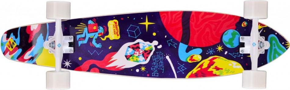 Street Surfing Kicktail 36 Space Longboard 91 x 21 cm paars