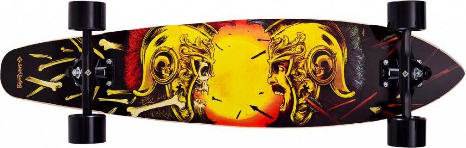 Street Surfing Kicktail 36 Spartans Longboard 91 x 21 cm zwart