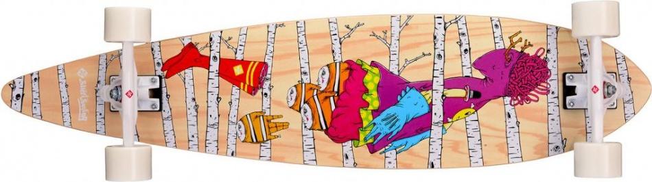 Street Surfing Pintail 40 Woods Artist Longboard 101 x 24 cm
