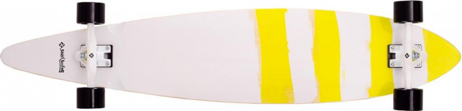 Street Surfing Pintail 46 Paipo Longboard 117 x 24 cm wit/geel