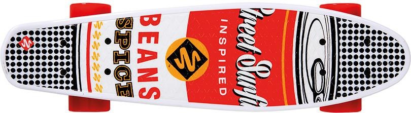 Street Surfing Pop Board Souper Black Dot 55 x 15 cm rood/wit