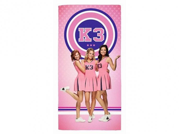 Studio 100 badlaken K3 meisjes roze 75 x 150 cm kopen