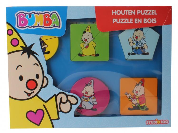 Studio 100 Bumba houten puzzel Beroepen 12 stukjes