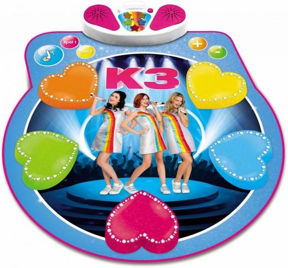 Studio 100 dansmat K3 meisjes 37 x 34 cm blauw