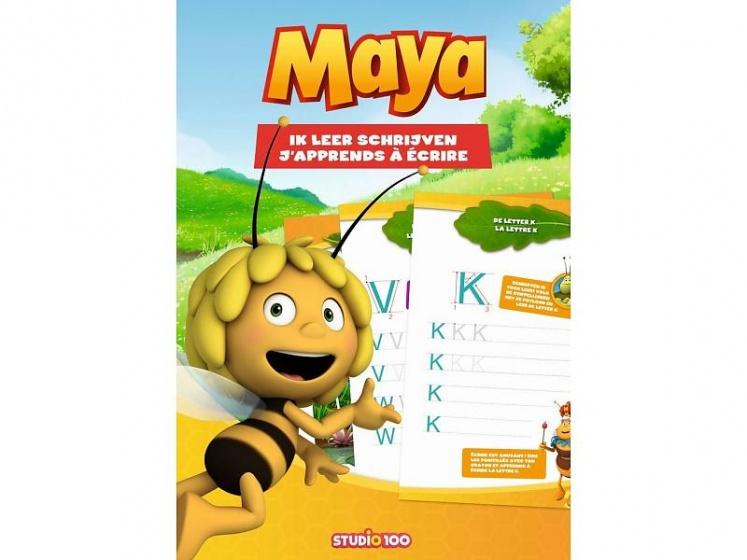 Studio 100 doeboek Maja De Bij Ik leer schrijven (NE/FR)