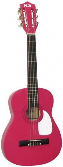 Studio 100 Houten Gitaar K3 70 cm roze