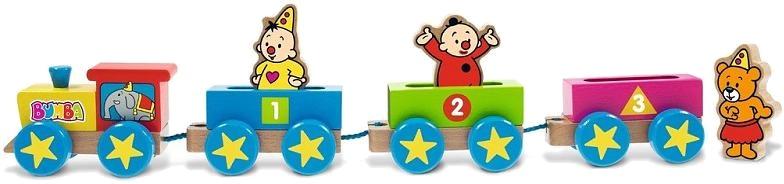 Studio 100 houten trein met figuurtjes Bumba 7 delig