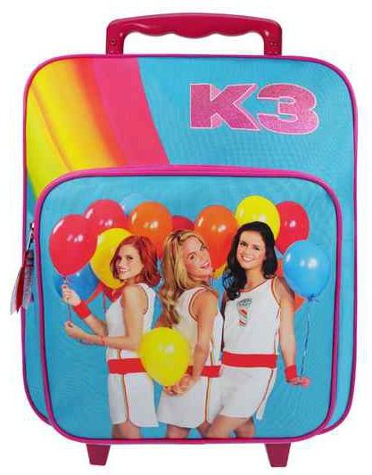 Studio 100 K3 Trolley rugzak Rainbow blauw/roze 35 x 28 x 12 cm