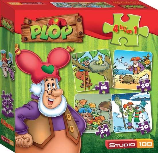 Studio 100 Kabouter Plop Puzzel 4 in 1