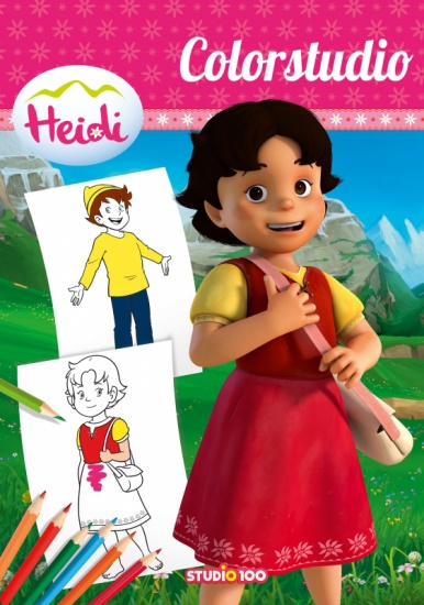 Studio 100 kleurboek Heidi meisjes roze 30 x 21 cm