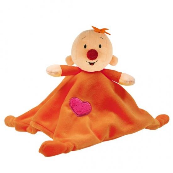 Studio 100 knuffeldoekje Bumba Babilu 17 cm oranje
