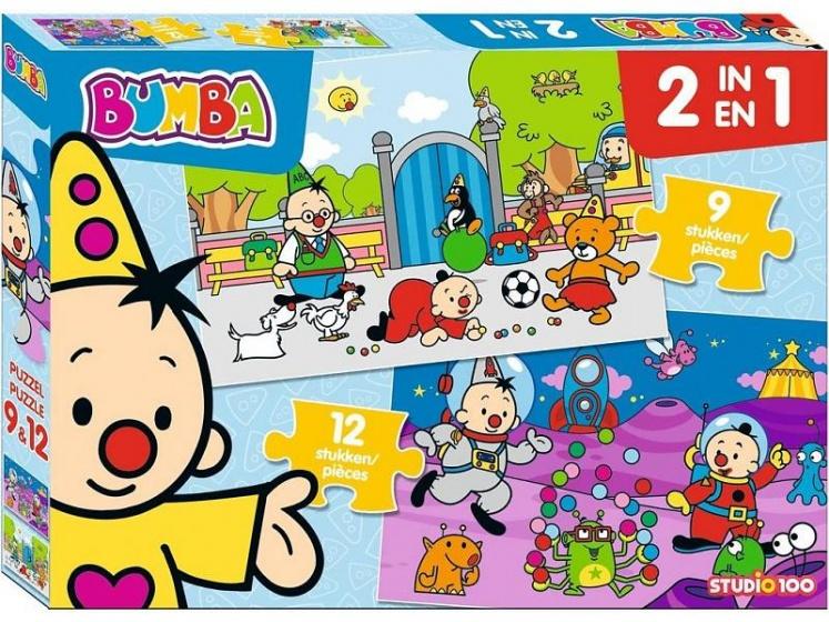Studio 100 legpuzzel 2 in 1 Bumba 9 en 12 stukjes