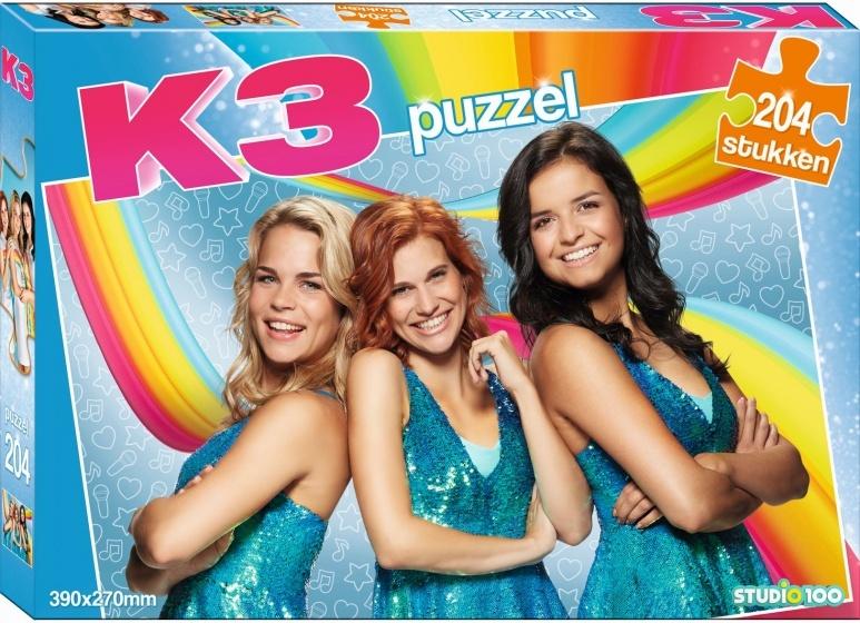Studio 100 legpuzzel K3 39 x 27 cm 204 stukjes blauw